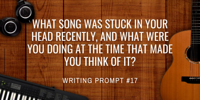 What song was stuck in your head recently, and what were you doing at the time that made you think of it?