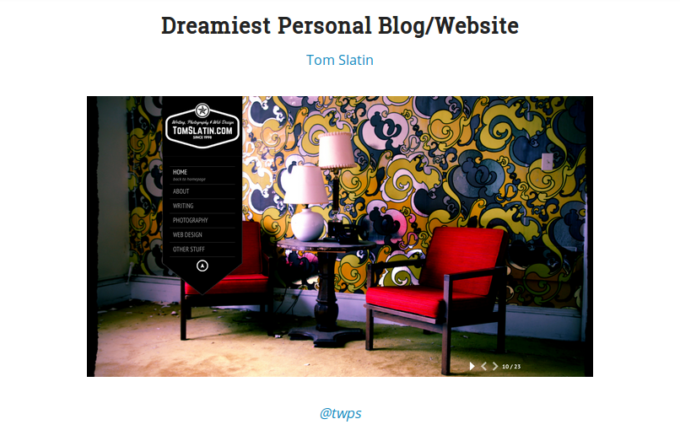 Winner Of DreamHost's Dreamiest Website of The Year