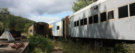 Abandoned Adirondack Mountain Rail Yard