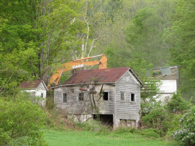 Abandoned House Demolished