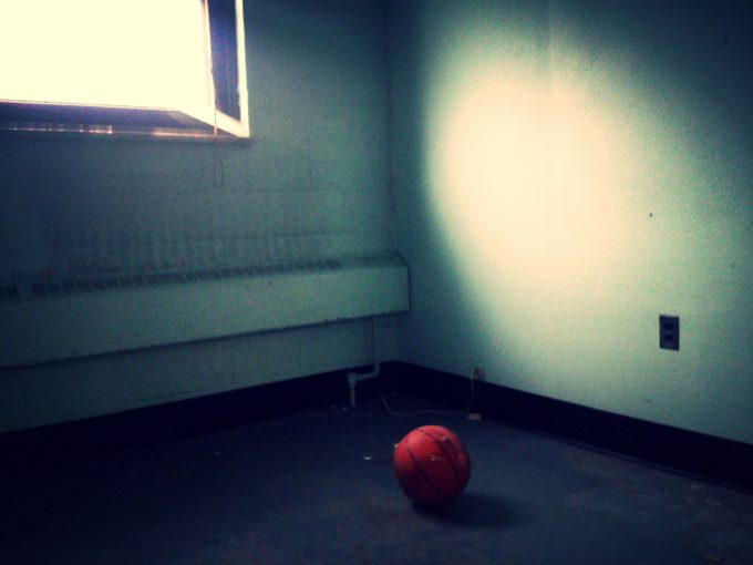 Basketball In An Empty Room