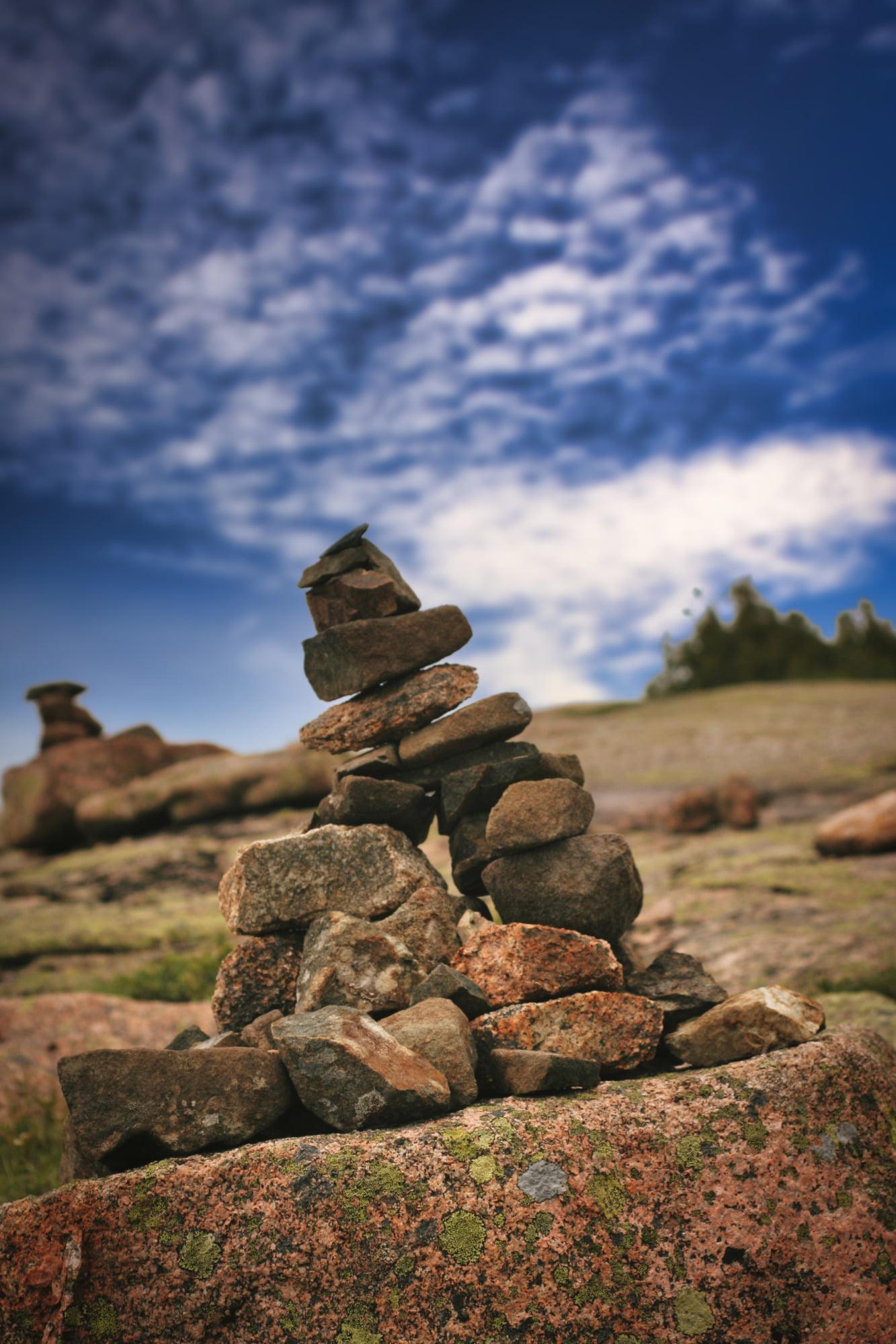 Cairn, Cadillac Mountain, Acadia National Park