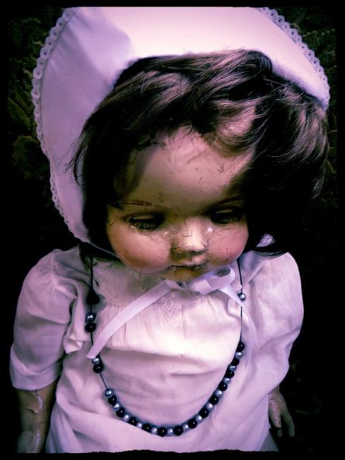 Creepy Cracked Doll