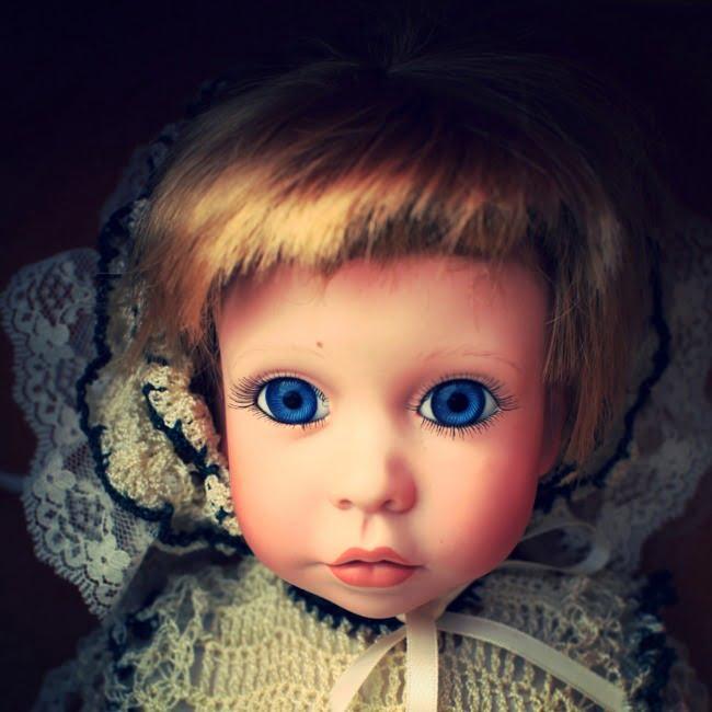 Creepy Doll With Big Blue Eyes (Edit)