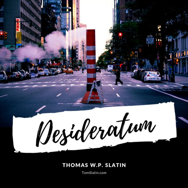 Author Kai Beck Reads Desideratum By Thomas Slatin