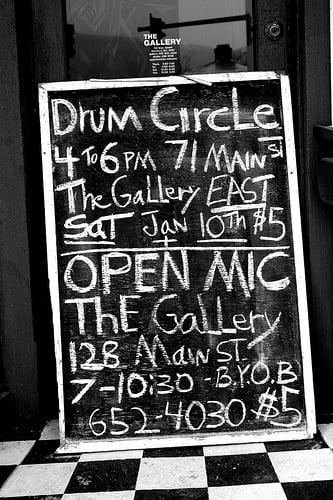 Drum Circle & Open Mic Night