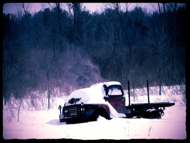 Farm Truck In Winter