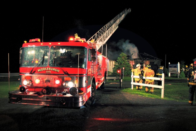 Fire At Pilgrim Holiness Church (Edit)