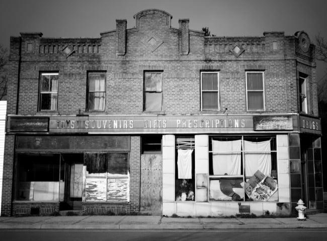 Forgotten Pharmacy (Black & White Edit)