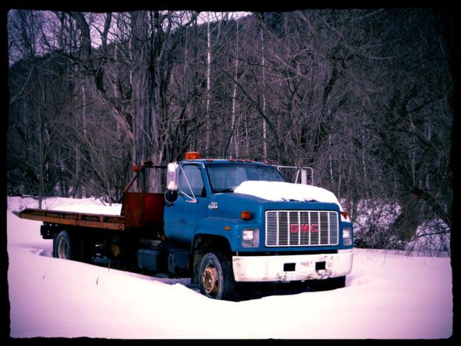 GMC Truck In Winter