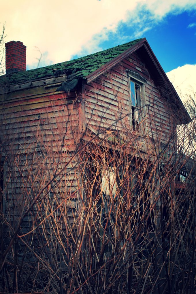 Little Red Abandoned House