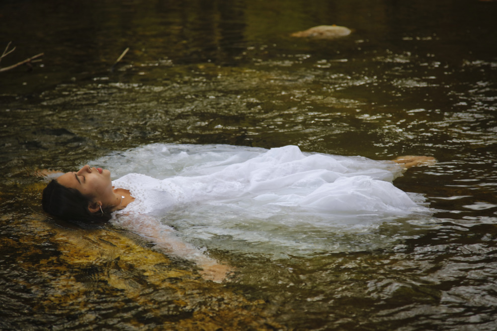Makayla's Wedding Dress In The Water Photoshoot