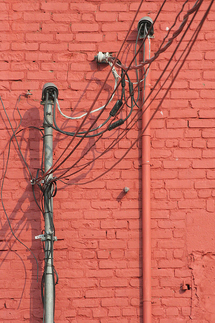 Red Wall & Wires