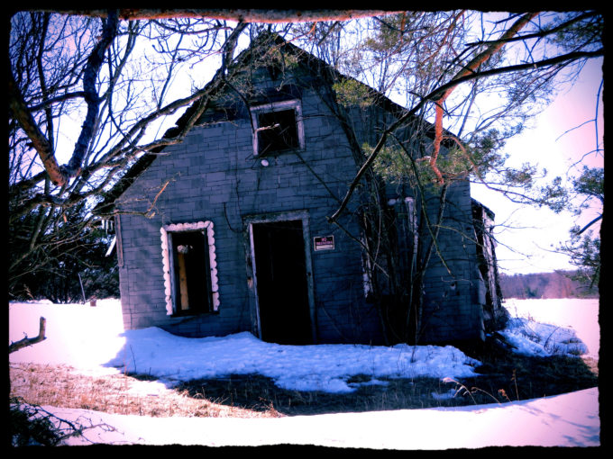 Abandoned Farm Shack In Winter