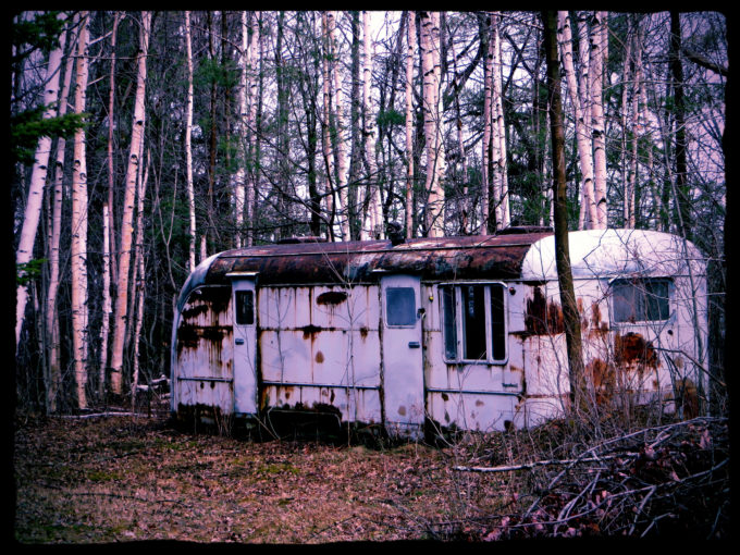 Abandoned Hunting Trailer