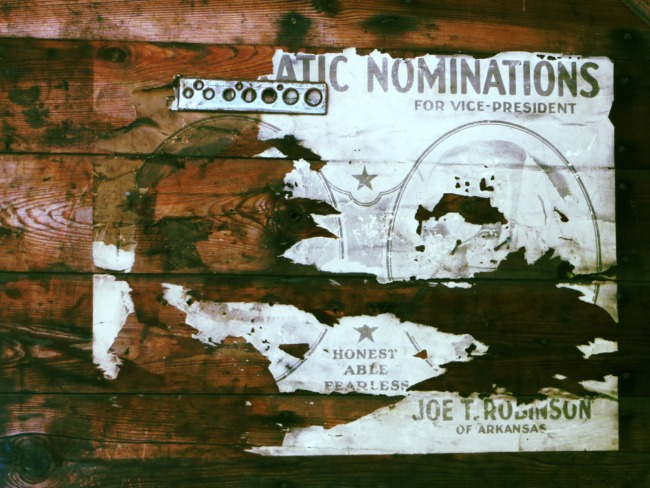 Abandoned Town Hall Election Poster (Alternate Take)