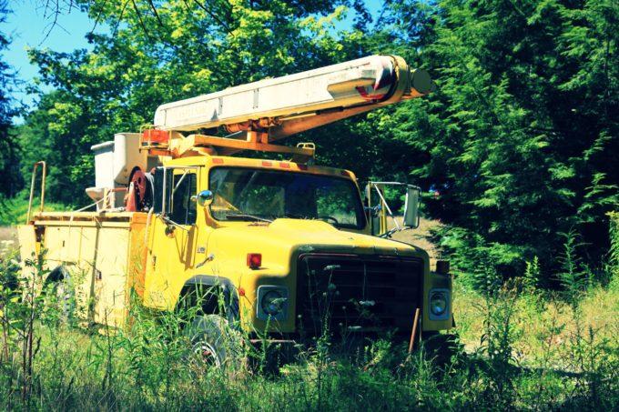Abandoned Utility Truck