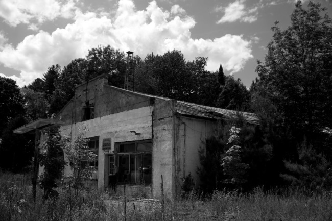 Abandoned Gas And Service Station (Black & White Edit)