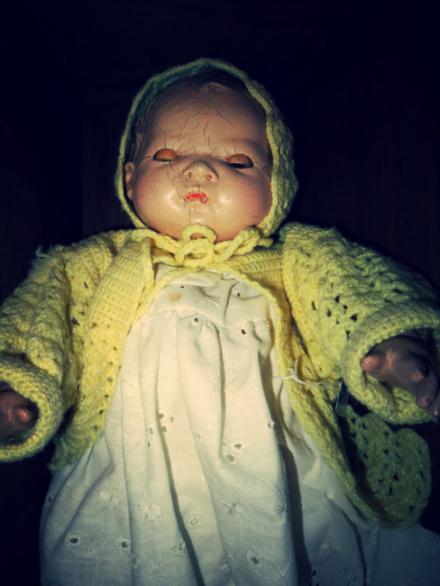 Baby Doll In A Wooden Box
