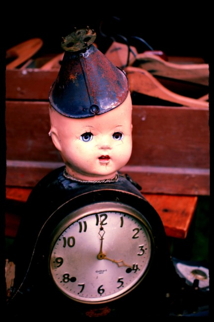 Creepy Doll Clock