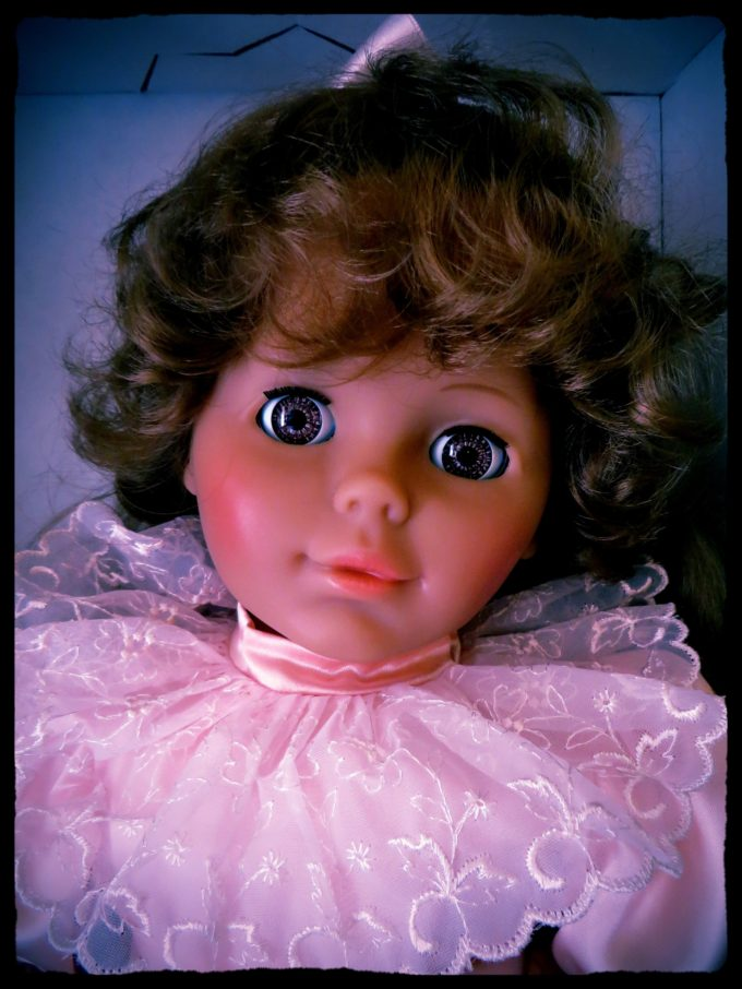 Creepy Doll In A Shoe Box