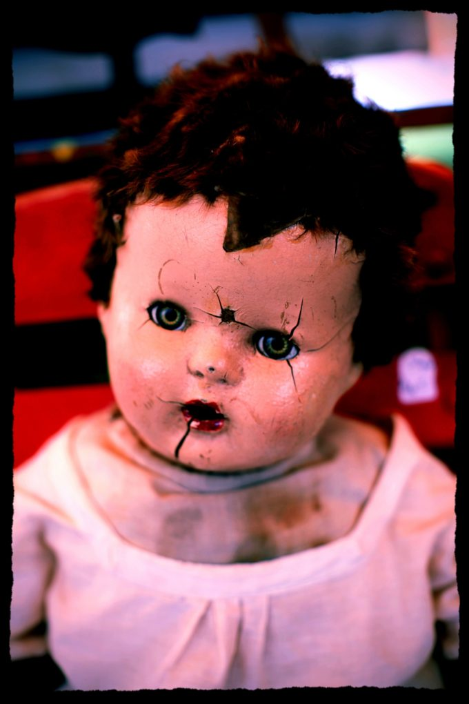 Creepy Doll With Cracked Face