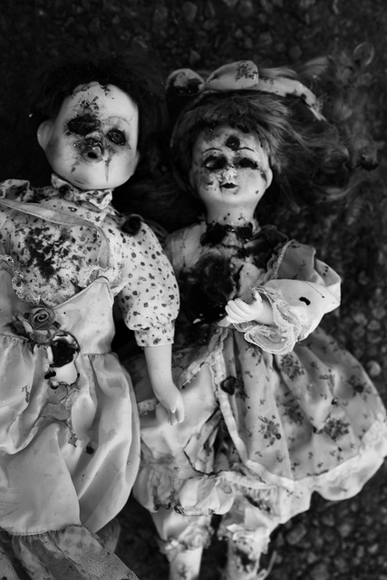 Burned Creepy Dolls