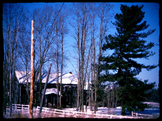 Forgotten Farmhouse In Winter
