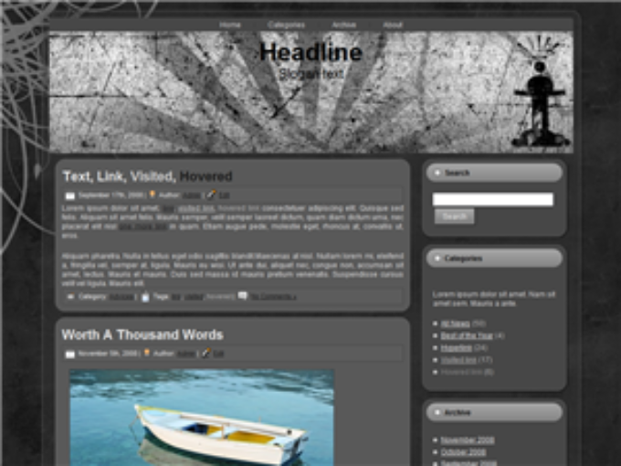 Grunge King WordPress Theme