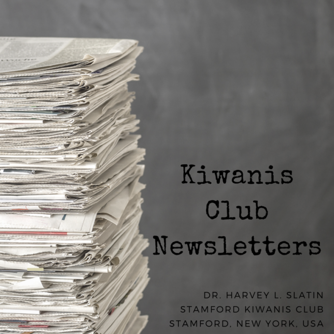 Stamford Kiwanis Club Newsletter – May 22, 2002
