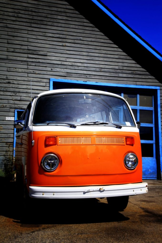 Orange VW Bus