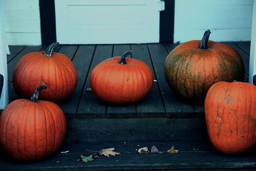 Pumpkins On The Porch
