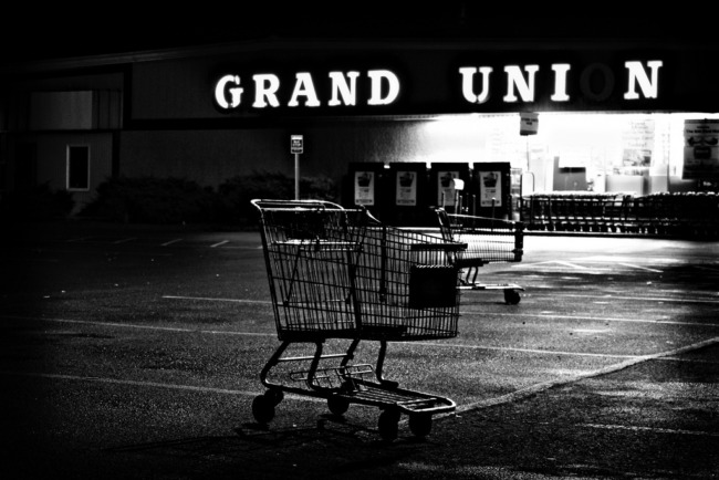 Shopping Carts In The Night