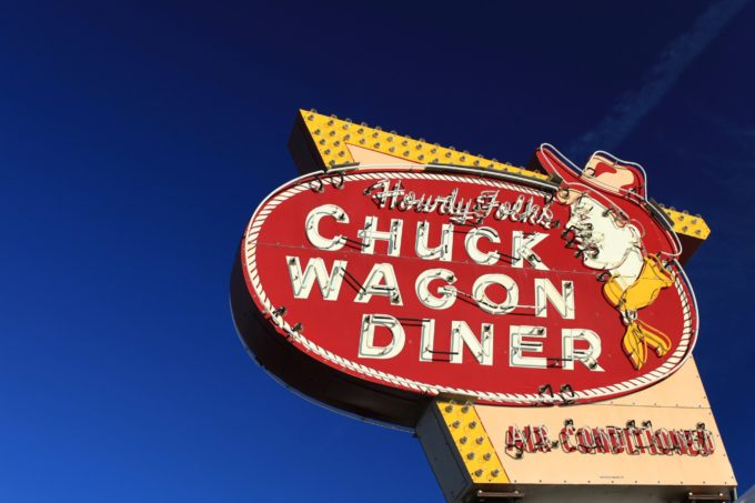 The Chuck Wagon Diner Sign