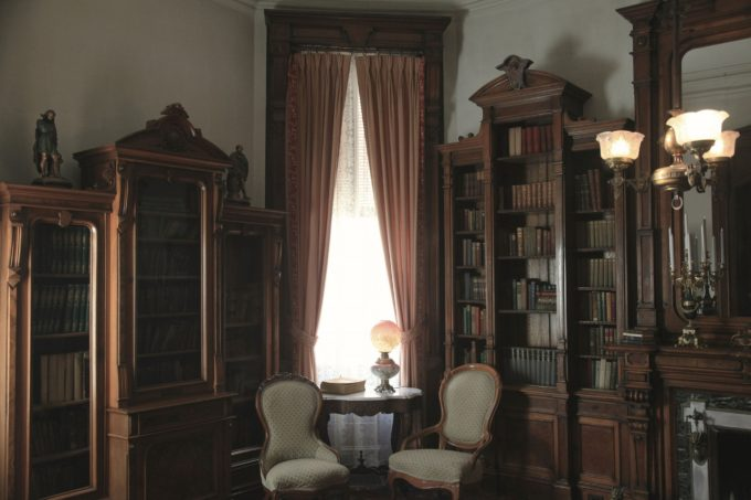 Vintage Mansion Library