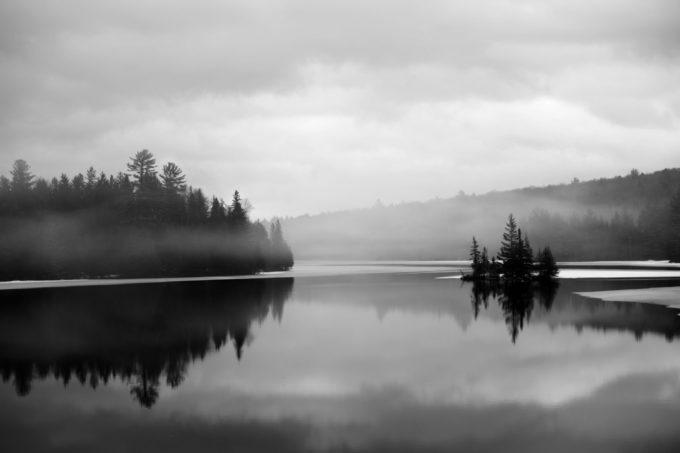 Winter Fog Over Indian Lake