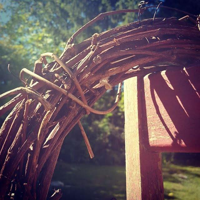 Wreath On An Old Chair